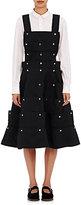 Comme des Garcons Women's Wool Snap Dress-BLACK