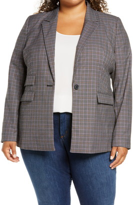 Halogen Plaid Blazer