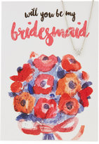 Lydell NYC Bridesmaid Necklace with Bouquet Card