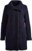 Cole Haan Black & Navy Wool-Blend Coat