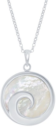 Sterling Silver Wave Pendant Necklace