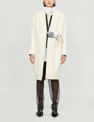 Omer Asim Tie-front cotton coat