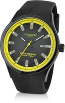 Forzieri Black Rubber Strap Date Watch