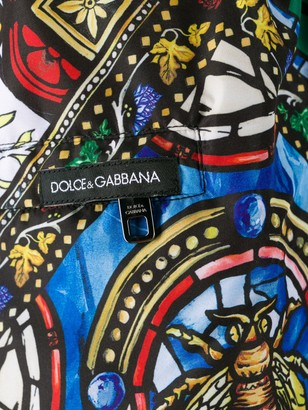 Dolce & Gabbana Stained-Glass Print Swim Shorts
