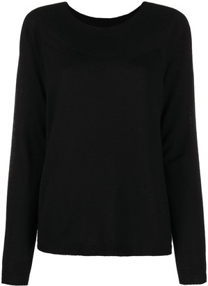 P.A.R.O.S.H. Long Sleeve Ribbed-Collar Sweater