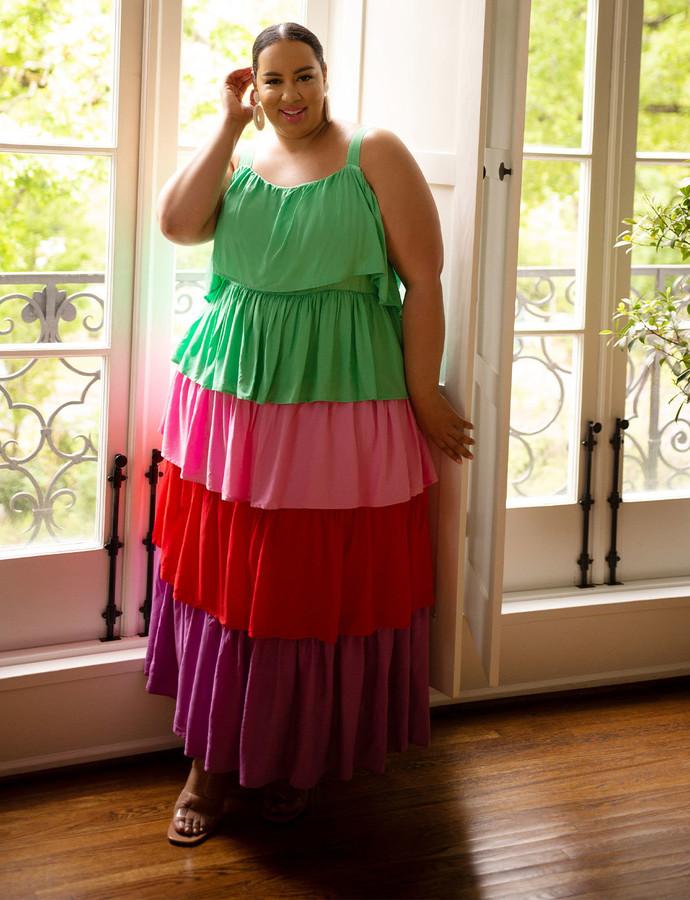 Tiered Rainbow Dress