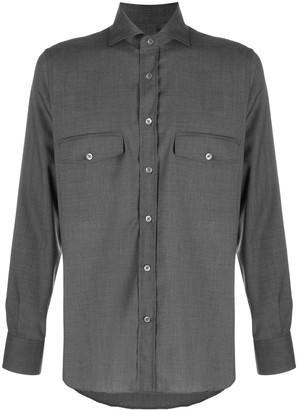 Canali double chest pocket shirt