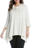 Karen Kane Cowl Neck Handkerchief Top (Plus Size)
