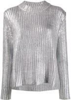 See by Chloe metallic knit jumper