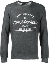 Love Moschino logo print sweatshirt - men - Cotton - S