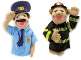 Melissa & Doug Toddler Police Officer And Firefighter Hand Puppets