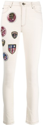 Mr & Mrs Italy Embroidered Skinny Trousers