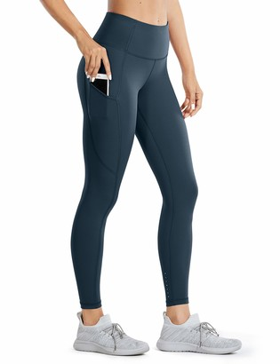 CRZ YOGA Women's Naked Feeling Gym Leggings Squat Proof High Waist Yoga Pants Sports Tights with Pocket-25 Inches Leopard Multi 2 10