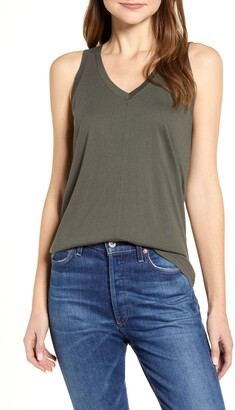 Caslon Double V Knit Tank Top