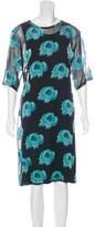 Zucca Floral Print Midi Dress