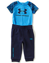 Under Armour Baby Boys Newborn-24 Months Color Block Knit Tee & French Terry Jogger Pant Set