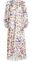 Borgo de Nor Printed Dress with Cotton and Silk