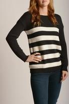 BB Dakota Black Striped Sweater