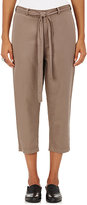 Robert Rodriguez Women's Cotton-Linen Twill Crop Work Pants
