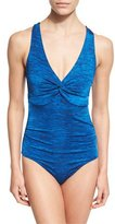 Jets Melange Twist-Front One-Piece Swimsuit, Available in DD-E Cup