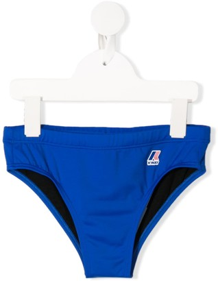 K Way Kids Logo Swimming Trunks