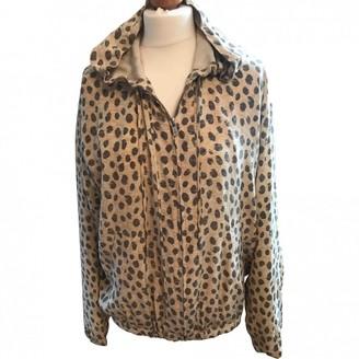 Equipment Grey Silk Jacket for Women