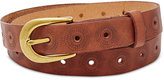 Fossil Floral Perforated Embossed Belt