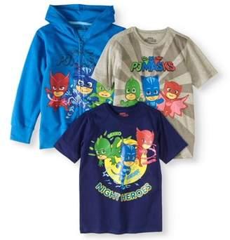Pj Masks PJ Masks Boys 4-7 Night Hero Jacket & T-Shirts, 3-Pack