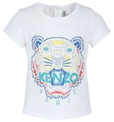 Kenzo White Tiger Embroidered Tee