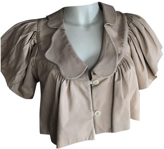 Anne Valerie Hash Beige Leather Tops