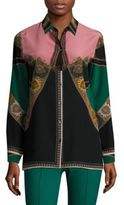 Etro Silk Button-Front Shirt