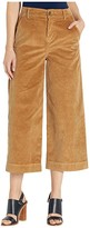 Bella Dahl Stretch Cord Wide Leg Crop Trousers (Camel) Women's Casual Pants