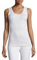 Magaschoni Ribbed Silk-Blend Tank