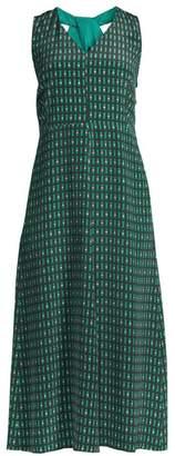 Max Mara Empoli Geometric Flare Midi Dress