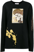 Jean-Michel Basquiat X Browns Rome Pays Off Notebook print long sleeve top