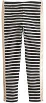 J.Crew Girls' everyday leggings in glitter tux stripe