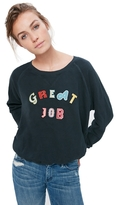 Mother The Square Great Job Patch Sweatshirt