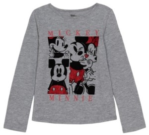 Disney Little Girls Mickey Minnie Long Sleeve T-shirt