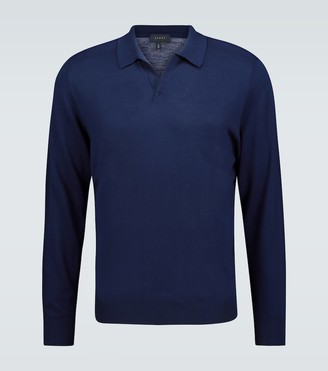 Sease Merino wool long-sleeved polo shirt