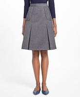 Brooks Brothers Tropical Wool A-Line Skirt