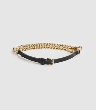 Reiss Anabelle - Chain Belt in Gold