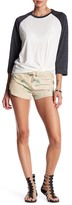 One Teaspoon Floral Vagabonds Leather Shorts