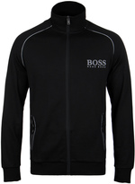 Boss Black Zip Through Funnel Neck Sweatshirt