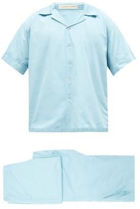 Cleverly Laundry - Superfine Cotton-sateen Pyjama Set - Light Blue