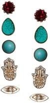 Asos Eye Stone Earrings Pack - Multi