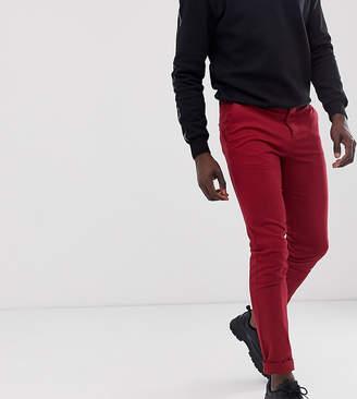 Asos Design DESIGN Tall slim chinos in wine red