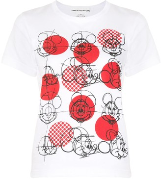 COMME DES GARÇONS GIRL Mickey Mouse print T-shirt