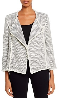 Daniel Rainn Chevron Knit Open-Front Jacket