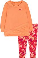 Nike Light Peach Logo Tunic Set - Baby Girls newborn-24m