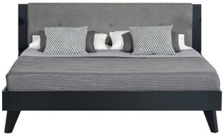 VIG Furniture Nova Domus Panther Contemporary Gray and Black Bed, Queen